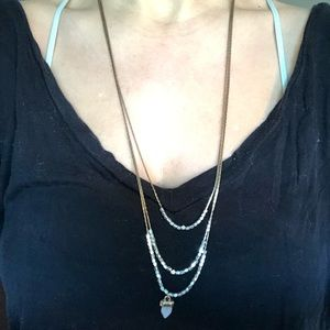 URBAN OUTFITTERS Layered Gold Beaded Necklace